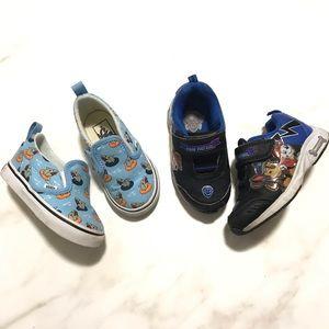 Bundle of 2 Kids Sneakers Size 6 Vans Paw Patrol